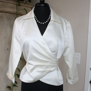 Classy Cream Holiday Wrap Blouse - Coldwater Creek